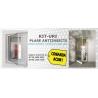 Kit Plasa L 700mm, H 2000mm plasa impotriva insectelor cu balamale pentru usa balcon