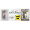 Kit Plasa + Precadru L 900mm, H 2200mm plasa impotriva insectelor cu balamale pentru usa intrare